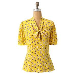 Girls from savory Lemon liftoff silk owl print top